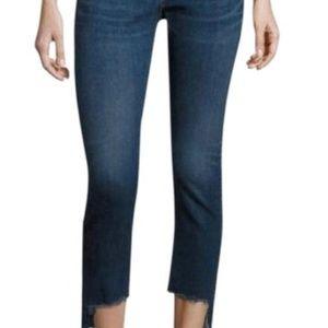Rag & Bone Skinny Capri Step Hem Jeans